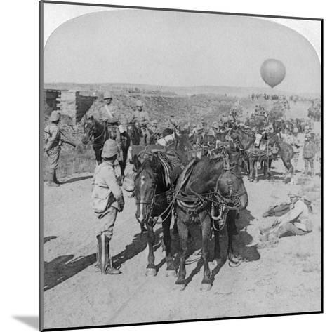 84th Battery and Balloon Corps, Boer War, South Africa, 1901-Underwood & Underwood-Mounted Giclee Print
