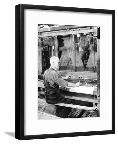 Weaving Irish Linen, Lurgan, Armagh, 1936--Framed Art Print