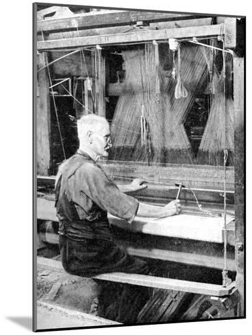 Weaving Irish Linen, Lurgan, Armagh, 1936--Mounted Giclee Print