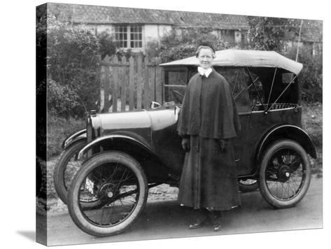 Woman with an Austin Seven, C1923--Stretched Canvas Print