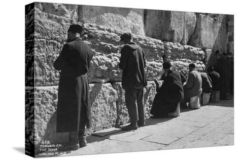 The Wailing Wall, Jerusalem, C1920S-C1930S--Stretched Canvas Print