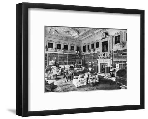 The Library, Chesterfield House, 1908--Framed Art Print