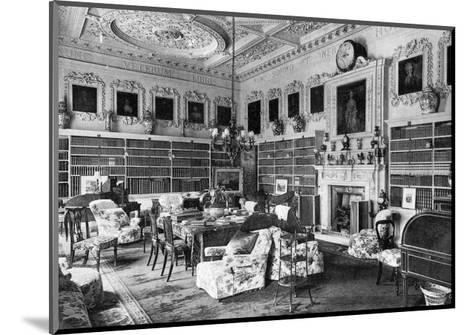 The Library, Chesterfield House, 1908--Mounted Giclee Print