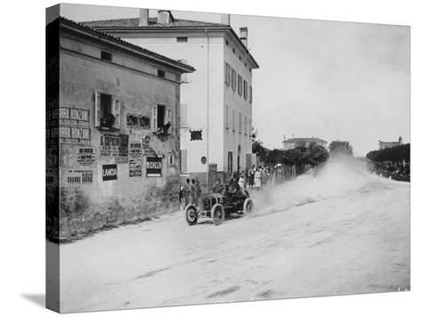 Vincenzo Trucco Driving a De Dietrich, in the Coupe Florio, Bologna, Italy, 1908--Stretched Canvas Print