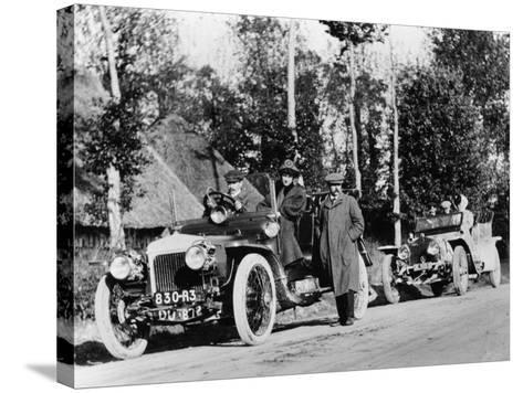 A Comparative Trial Between a Daimler and Rolls Royce Silver Ghost, C1909--Stretched Canvas Print