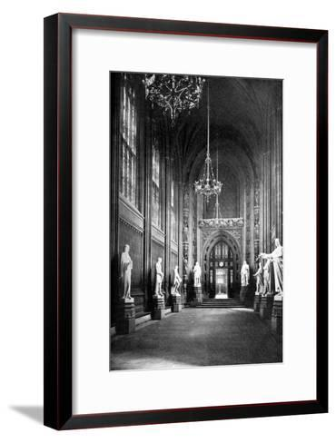 St Stephen's Hall, Palace of Westminster, London, C1905--Framed Art Print
