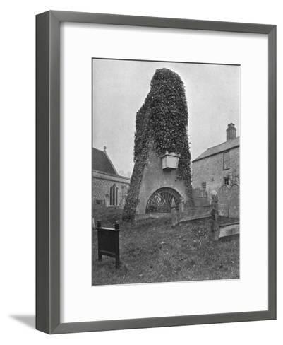 A Tomb Above Ground, Pinner Churchyard, London, 1924-1926-Valentine & Sons-Framed Art Print