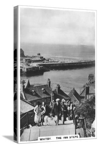 The 199 Steps, Whitby, 1936--Stretched Canvas Print