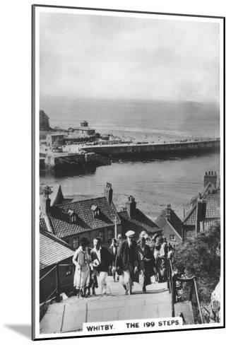 The 199 Steps, Whitby, 1936--Mounted Giclee Print