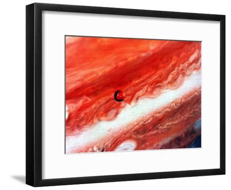 Detail of Jupiter and its Inner Satellite Lo--Framed Art Print