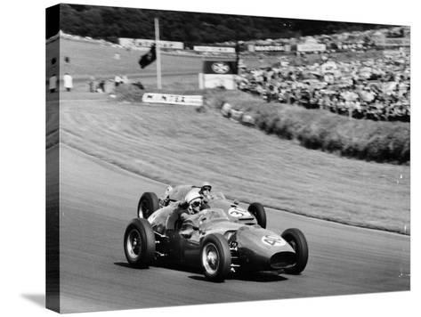An Davison and Gino Munaron During Formula Intercontinental Race, Brands Hatch, August 1961--Stretched Canvas Print