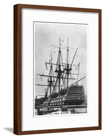 HMS Victory, Portsmouth, Hampshire, 1936--Framed Art Print
