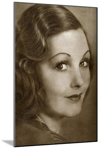 Elizabeth Allan, English Actress, 1933--Mounted Giclee Print