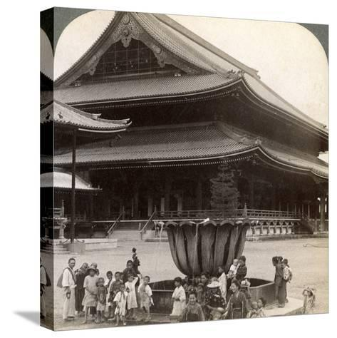 Main Front of Higashi Hongan-Ji, Largest Buddhist Temple in Japan, Kyoto, 1904-Underwood & Underwood-Stretched Canvas Print