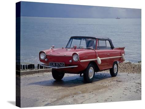 A 1965 Amphicar at the Water's Edge--Stretched Canvas Print