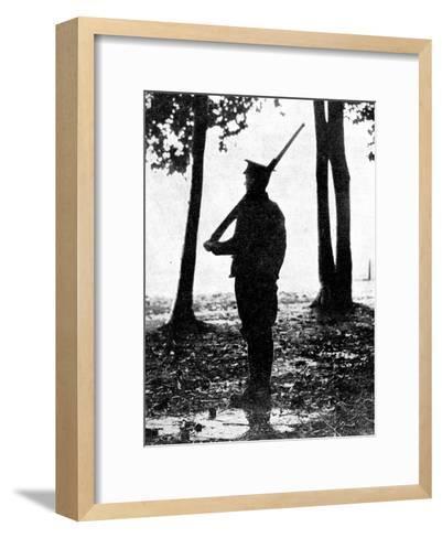 Grey Dawn on the Battlefield, British Cavalry, Belgian Frontier, First World War, 1914--Framed Art Print