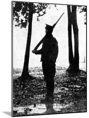Grey Dawn on the Battlefield, British Cavalry, Belgian Frontier, First World War, 1914--Mounted Giclee Print