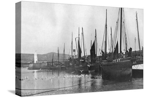 Fishing Boats in Port St Mary Harbour, Isle of Man, 1924-1926--Stretched Canvas Print