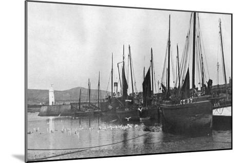Fishing Boats in Port St Mary Harbour, Isle of Man, 1924-1926--Mounted Giclee Print