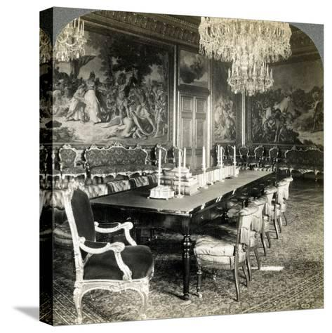 Council Chamber of King Oscar II, Royal Palace, Stockholm, Sweden-Underwood & Underwood-Stretched Canvas Print