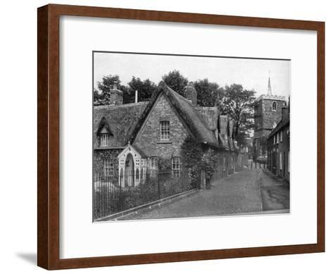 St Mary's Square, Horncastle, Lincolnshire, 1924-1926-Valentine & Sons-Framed Art Print