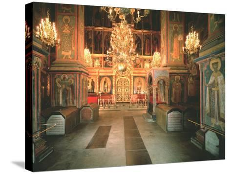Interior of the Archangel Michael Cathedral in the Moscow Kremlin, 1679-1681--Stretched Canvas Print