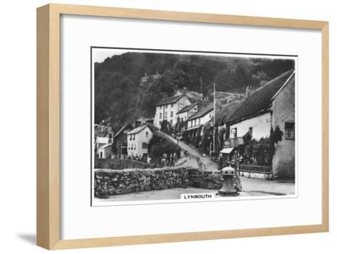 Lynmouth, Devon, England, 1936--Framed Art Print