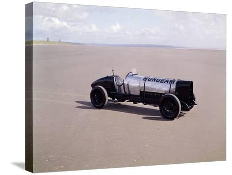 A 1920 350Hp Sunbeam, Pendine Sands, Wales--Stretched Canvas Print