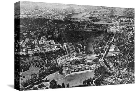 Aerial View of Buckingham Palace, London, 1926-1927--Stretched Canvas Print