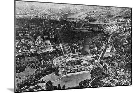 Aerial View of Buckingham Palace, London, 1926-1927--Mounted Giclee Print