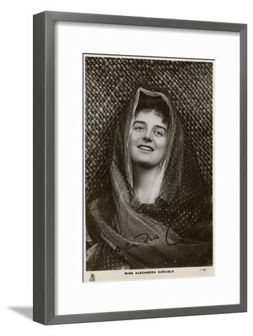 Alexandra Carlisle, British Actress, C1900s-C1910S- Tuck and Sons-Framed Art Print