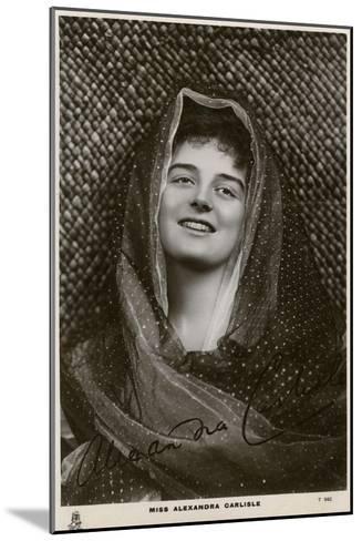 Alexandra Carlisle, British Actress, C1900s-C1910S- Tuck and Sons-Mounted Giclee Print