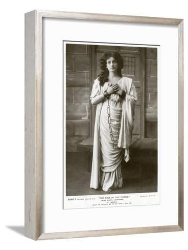 Marie Leonhard, Actress, C1900s-Foulsham and Banfield-Framed Art Print