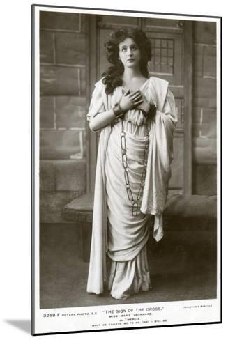 Marie Leonhard, Actress, C1900s-Foulsham and Banfield-Mounted Giclee Print