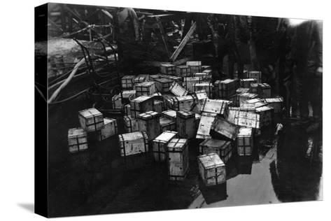 Transportation of £14,000,000 of Bullion on the British Battleship HMS Malaya, 1940--Stretched Canvas Print