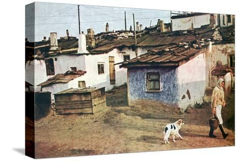 A Russian Village, World War II, 1942--Stretched Canvas Print