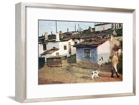 A Russian Village, World War II, 1942--Framed Art Print