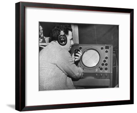 Radar Operator, Marshall Plan, 1947-1951--Framed Art Print