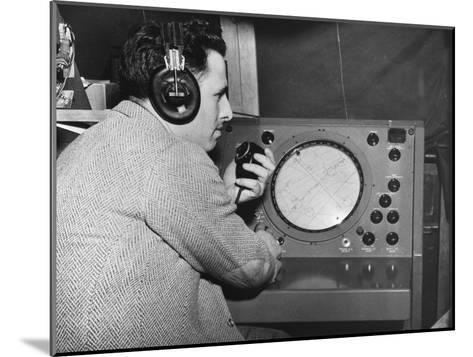 Radar Operator, Marshall Plan, 1947-1951--Mounted Giclee Print