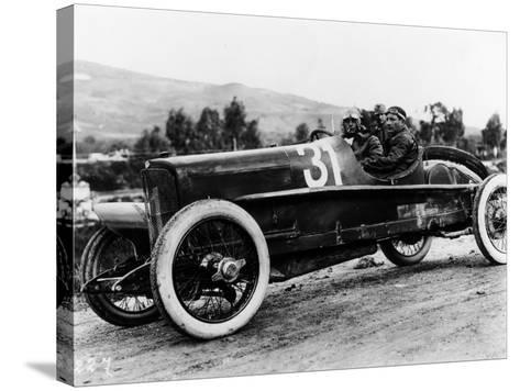 Wild Driving an Itala 51, in the Targa Florio Race, Sicily, 1922--Stretched Canvas Print