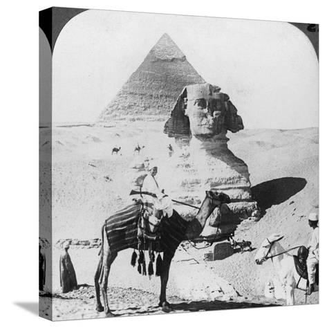 The Great Sphinx of Giza, Egypt, 1905-Underwood & Underwood-Stretched Canvas Print
