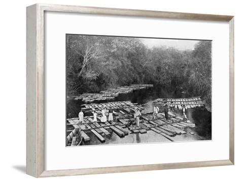 Rafts on the Tebicuary-Mi River, Paraguay, 1911--Framed Art Print