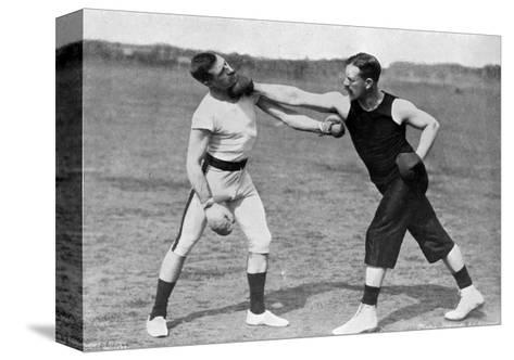 The Art of Boxing, the Right under the Chin, Aldershot, Hampshire, 1896-Gregory & Co-Stretched Canvas Print