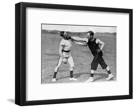 The Art of Boxing, the Right under the Chin, Aldershot, Hampshire, 1896-Gregory & Co-Framed Art Print
