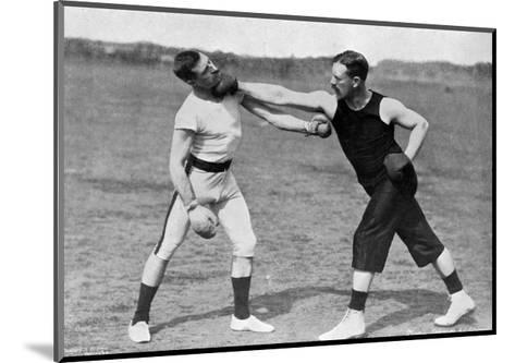 The Art of Boxing, the Right under the Chin, Aldershot, Hampshire, 1896-Gregory & Co-Mounted Giclee Print