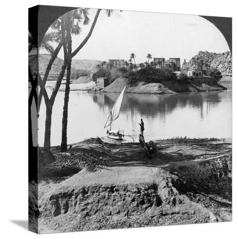 The Island of Philae, Egypt, 1905-Underwood & Underwood-Stretched Canvas Print