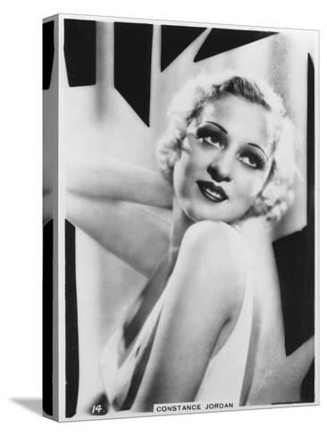 Constance Jordan, Actress, C1938--Stretched Canvas Print