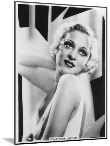Constance Jordan, Actress, C1938--Mounted Giclee Print