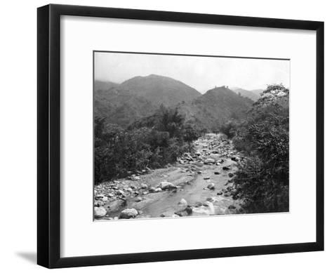 The Wag-River, Castleton, Jamaica, C1905-Adolphe & Son Duperly-Framed Art Print