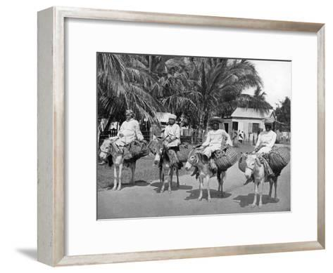 On the Way Home from Market, Jamaica, C1905-Adolphe & Son Duperly-Framed Art Print